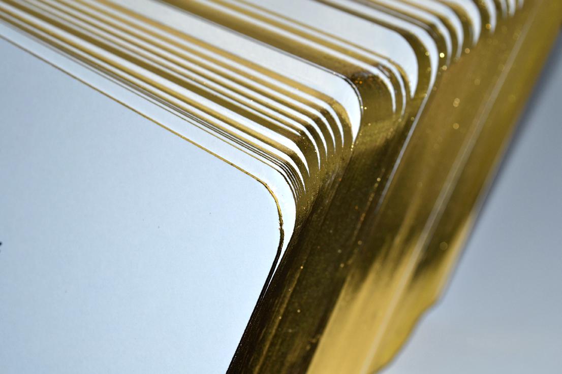 Blank gilt edge cards round cornered gold gilt edged board reheart Images