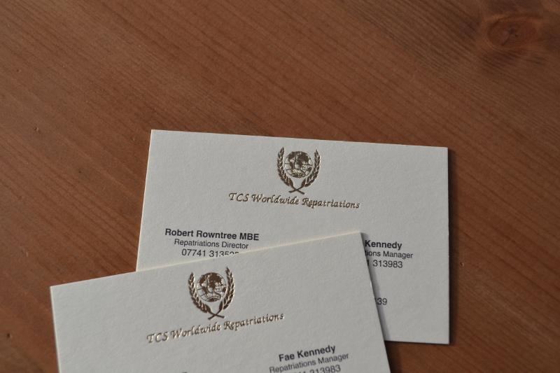 Gold Foil Black Printed Business Card