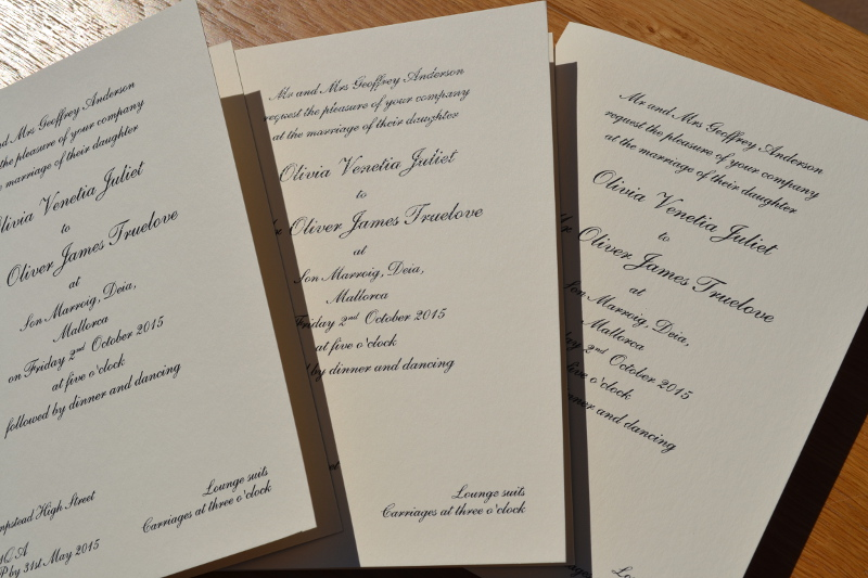 traditional folded wedding invitations