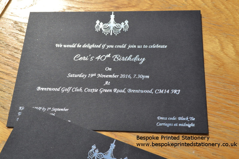 party invitations bespoke printed stationery